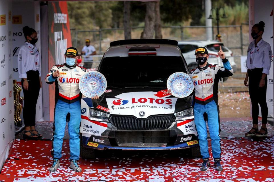 Kajetan Kajetanowicz i Maciej Szczepaniak wygrali Rajd Turcji WRC-2 2020.