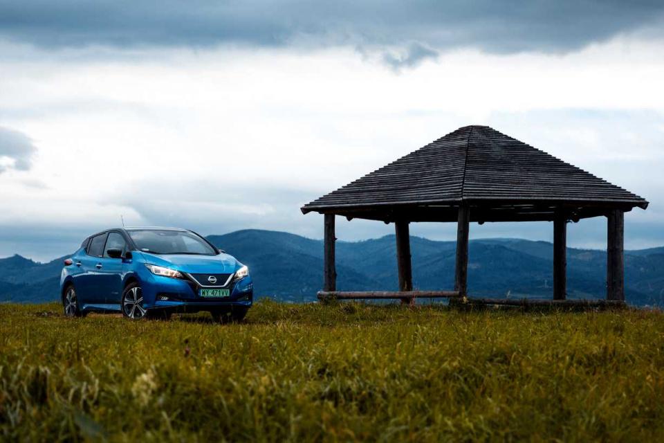 Nissan LEAF na Szlaku Wisły fot. Alina Kondrat