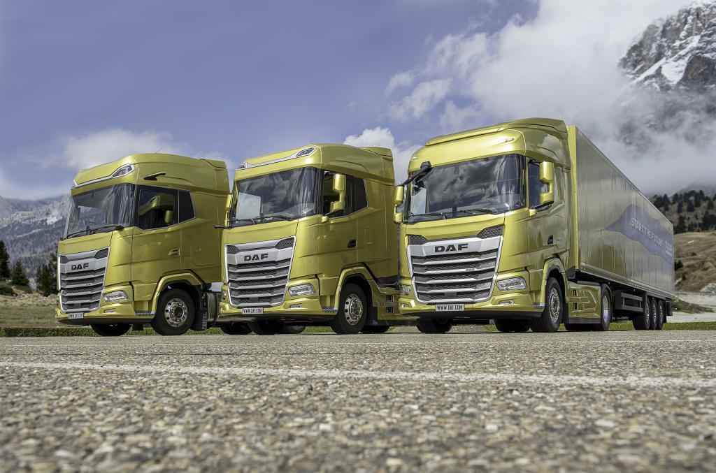 Nowa generacja ciężarówek DAF 2021. Od lewej XG+, XG, i XF.