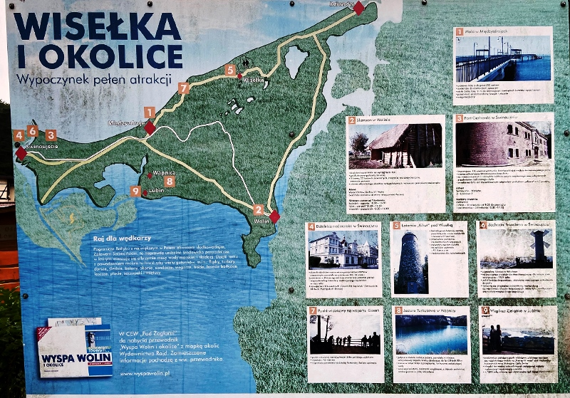 Wisełka - plan turystyczny okolic